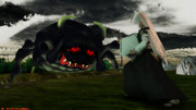 百鬼夜行絵巻『妖怪 牛鬼』VS荒ぶる博麗の守護神