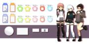 【MMD】名札セットver1_00【モデル配布】