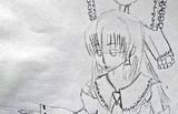 霊夢(KNN姉貴)を描いてみた