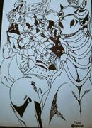 ジャイロ&バルキリーを描いてみた^^