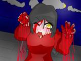 血まみれの女