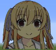 minecraftで小早川ぽひをつくってみた