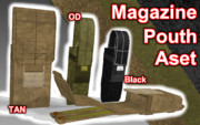 Magazine Pouth Aset【MMDモデル配布】