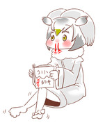 お勉強中のコノハ博士