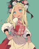 民族衣装のライラさん