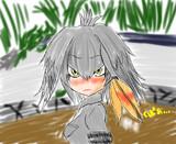 (トレス落書き)暑い時のハシビロちゃん
