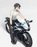 京山さんと生きがいのバイク