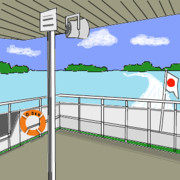 NER、松島を遊覧船で観光する