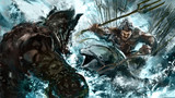 sw2.0リプレイ絵5「水上決戦、ドワグラvsドルフィン海賊団ボス」