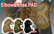 Elbow & Knee Pad 【MMDモデル配布】