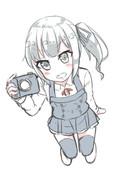 カメラにはまった霞ちゃん