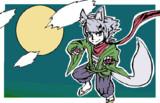 白狐をマウスで描いた。