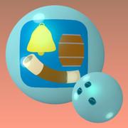 かたち (鐘、樽、ちくわ) のボウリングボール
