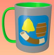 かたち (鐘、樽、ちくわ) のマグカップ