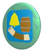 かたち (鐘、樽、ちくわ) のパールコイン