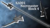 【斧槍】KA001 Necrosaster Block4 / ネクロザスター【MMD武器】