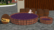 【MMD】ワイン樽と葡萄踏み桶っぽいもの【配布】
