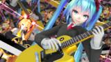 【Tda式ミク・ネル】ミクとギター+DJ NERU【MikuMikuDance】
