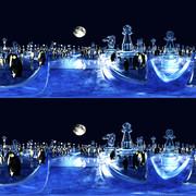 【360° VR 3D画像 4K】ペンギンとチェスの夜 VRA03