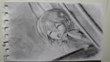 サーバルちゃん(メモ張鉛筆描き)