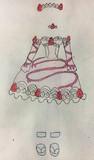 ドラゴンボールz復活のFイチゴサンデー風ドレス