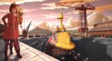入渠中の空中戦艦
