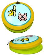 「バナナと豚」のカスタネット