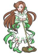 緑咲香澄公式ポーズ