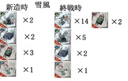 雪風ビフォーアフター(進水時→終戦時)