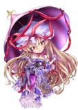 デフォルメ紫