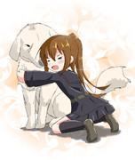 女の子とおっきい犬って組み合わせって好き