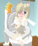 おトイレを始めた途端に来たお客さんが帰ってしまいそうな気配に進退窮まってしまったアルパカさん
