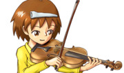 【GIFアニメ】ヴァイオリン弾きの少女・Live2D