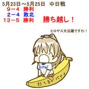 5月23日~25日 中日戦