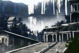 渓谷の廃墟街