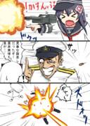 奇襲攻撃?を受ける旗提督