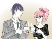 二人のコーヒーブレイク