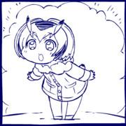 踊る手乗りコノハ博士GIFアニメ