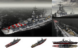 MMD用モブ改装戦艦1942(カイオモブリオ)セット