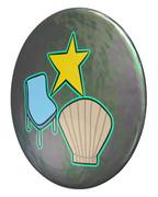 スイカ(スター、椅子、貝)のパールコイン
