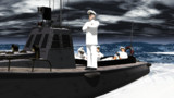 【MMD習作】海軍首脳部と内火艇