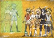 【壁画】ミライとサーバル