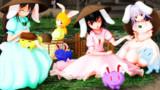 【第9回東方ニコ童祭】人里でカラーうさぎ売り