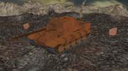 砲弾穴だらけの戦場地形配布+ヤークトティーガー更新2.2