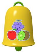 ブリキ(ブドウ、リンゴ、キウイ)のベル