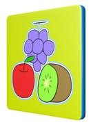 ブリキ(ブドウ、リンゴ、キウイ)のコースター