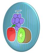 ブリキ(ブドウ、リンゴ、キウイ)のパールコイン