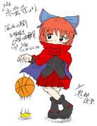 蛮奇とバスケットボール