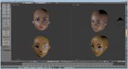 Blender 自作ゲーム バンピートロットのような… 人物顔生成 とりあえず上のにしようw