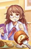 お菓子を食べる宇佐見菫子